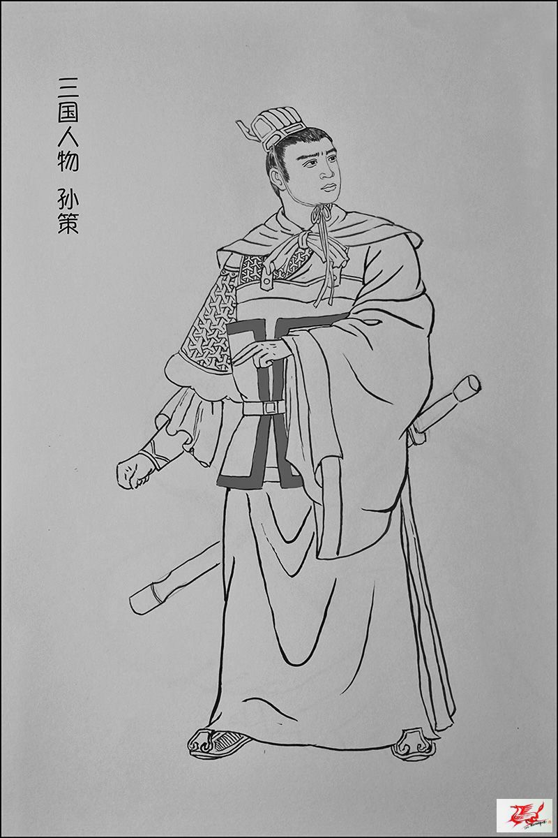刘祺云博客 - 《三国人物》-我的线描画 - 空六军战友