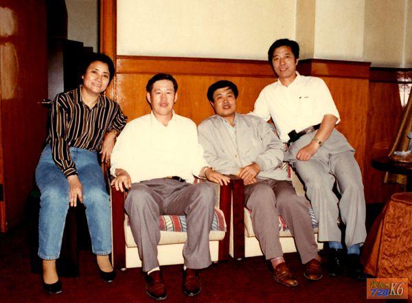 90年代张宝贵,周炳贤,袭和章(干部处干事),刘祺云相聚在北京.